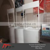 Plastic white promotion sampling table by vacuum forming