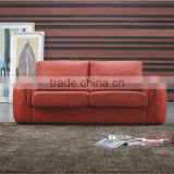 Bisini Modern Simple Red Leather Hotel Sofa (BG90451)