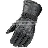 Geniune Leather gloves with adjustable wrist clousre.