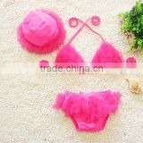 Wholesale Fashion Three-piece Cute Chiffon Baby Girls Mini Bikini