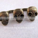 metal alloy skull stye double rings, POP vintage rings,exotic finger rings