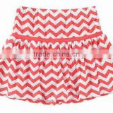 above-the-knee length casual dressess 100% knit cotton chevron dresses mini skirt kid girls cotton bottom chevron Skort