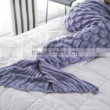 Customs knitted scales mermaid blanket adult mermaid tail blanket 90*190cm