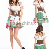 Walson Womens Green German Oktoberfest Beer Maid Kiss Dirndl Ladies Fancy Dress Costume