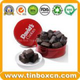 Chocolate Tin,Chocolate Box,Round tin can,food tin box