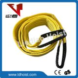 Colour Flat Eye Double Ply Polyester Webbing Sling Webbing Sling