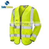 hot selling high quality new design women long sleeve safty reflective vest