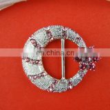 Bailange wholesale rhinestone custom belt buckles blank metal shoe clip manufacturers
