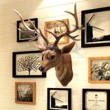 European style creative gifts resin animal deer head wall hanging interior decoration crafts hang