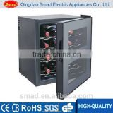 23L/12 bottles single zone metal thermoelectric wine cooler/ wine refrigerator LED display BCW-23B