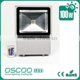 10W Led flood light RGB changing colour lamps with IR remote control or common white lamps