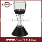 Hour Glass Wine Aerator, Instant Wine Aerator with Stand with color box packing, for Red or White Wine & Spirits