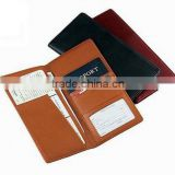 Genuine leather checkbook passport document travel wallet                                                                         Quality Choice