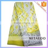 Mitaloo Nigeria French Lace Fashion Design Embroidery Metallic Lace for Wedding Dress MFL0130