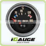 100% Made in Taiwan 52mm VDO Type Chrome Rim Oil Temp Gauge