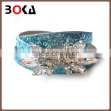 // fashion lady rhinestones and crystals belts // wholesale women fashion leather belt //