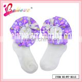 Made in China good quality baby products fancy ribbon soft cosy socks for baby (WT-0015)