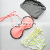 2015 new design of children Bikini,3 pieces of kids swimwear,baby swimsuit,girls beach bikini