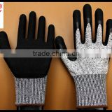 latex foam coated sandy finish blade cut resistant working gloves grade 5 China supplier