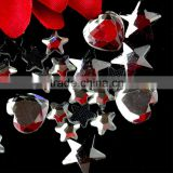 DMC hot fix shape stones, glass stones in heart shape start shape rhinestone crystals in bulk