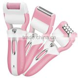 3 in 1 Function Lady Shaver and epilator and foot dead skin remover shaver electric foot callus remover