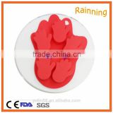 Fashionable promotional ice cream silicone cake mold palm shape silicone ice mold with 6 places