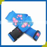 2015 new polyester guitar strap or luggage belt with plastic password lock buckle and heat transfer print logo