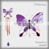 MX060031 wholesale tiffany style stained glass butterfly decorated wind chime bell for indoor or outdoor home decoration item                                                                         Quality Choice