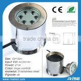 Recessed waterproof 316 stainless steel ip68 above ground pool light