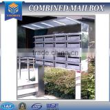 apartment metal mailbox stainless steel modern uban style box mode mailbox outdoor decor locking box mailbox