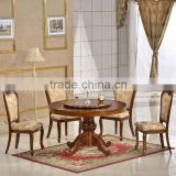 high quality antique wooden carved round dining table chairs