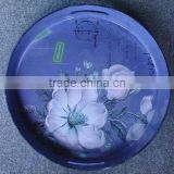 Round lacquer tray