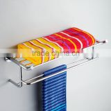 High quality Chromed Polished Multifunctional wall mounted Towel Rack Glove Towel Shelf With Towel Bar