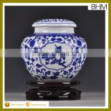 JIngdezhen chinese blue&white bottle ceramic canister tea coffee sugar home decor