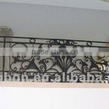 2014 Top-selling modern wrought iron fancy balcony railing