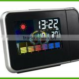 Weather temperature Station LCD Projection Alarm Clock