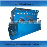Combined electric motor hydraulic drive patent fuel injector test bench