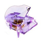 Noble cheap crystal glass music piano for wedding favors/ souvenir/gift