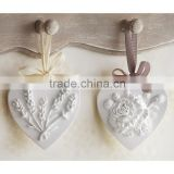 Gift company loved Chamomile/Cedarwood/citron scents hanging air freshener decorative clay heart                                                                         Quality Choice