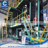asphalt waterproof membrane plant/ Best quality modified bitumen waterproofing membrane production line for industroy