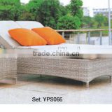 00 aluminum furniture outdoor comfortable leisure rattan sun double sofa bed sets YPS066