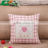 2015 new pastoral style hand embroidery cartoon Cotton and linen hold pillow Sofa cushion cover car decoration