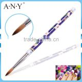 ANY China Ceramic Handle Nail Art Pure Kolinsky Acrylic Art Brush