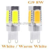 Energy-saving 700Lm 220V G9 Socket 8W 5 SMD COB LED Light Bulb Lamp White Light and Warm White Light