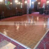 Outdoor wooden stage dance floor with engineered wood flooring