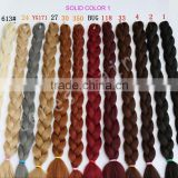factory wholesale Japanese synthetic fiber jumbo braid hair, ultra braid hair with different colors for sale