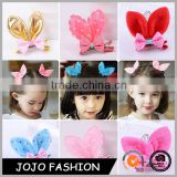 Latest Fashion Accessories Easter Girls Bunny Hair clips Glitter Rabbit Ear Baby Hairclip