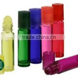 Cheap price transparent and colored essential oil glass roll on bottle roller ball bottles factory sale                                                                                                         Supplier's Choice