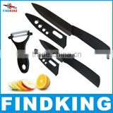 FINDKING Super quality black blade 3pcs Gift Set 3 inch+5 inch+peeler +covers Ceramic Knife Sets Kitchen Knife!