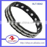 2016 Stainless Steel Energy jewelry bracelet Double row bio Magnetic Bracelet for Men